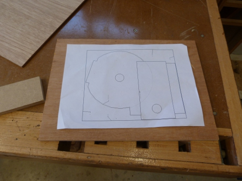 homemade router table template